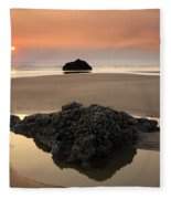 Hazy Oregon Sunset Fleece Blanket