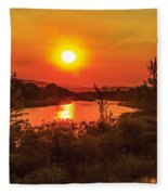 Hazy Sunrise Fleece Blanket