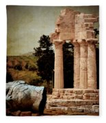 Head At Temple Of Castor And Pollux Fleece Blanket