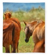 Heading Home Painterly Fleece Blanket