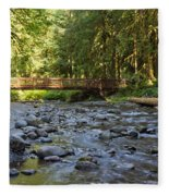 Hear The Rush Of Water II Fleece Blanket