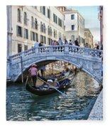 Heart In Venice Fleece Blanket
