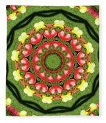 Heart Kaleidoscope Fleece Blanket