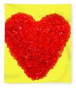 Heart Of Glass Fleece Blanket
