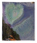 Heart Of The Tide Pool Fleece Blanket