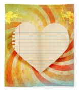 Heart Paper Retro Design Fleece Blanket