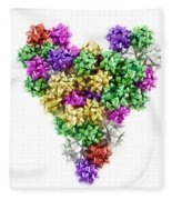 Heart Shaped Christmas Bows  Fleece Blanket