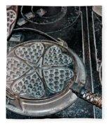 Heart Waffle Iron Fleece Blanket