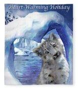 Heart Warmer Card Fleece Blanket