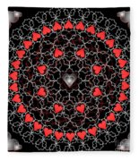 Hearts And Lace 2012 Fleece Blanket