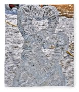 Hearts Cold As Ice Fleece Blanket