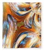 Heatwave Abstract Fleece Blanket