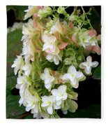 Heavenly Hydrangea Fleece Blanket