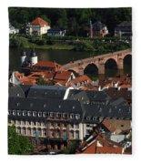 Heidelberg Germany Fleece Blanket