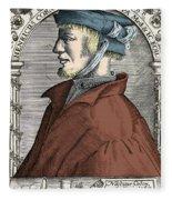 Heinrich Cornelius Agrippa, German Fleece Blanket