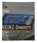 Heinz Spaghetti Train Ad Signage Digital Art Fleece Blanket