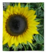 Helios Flower Fleece Blanket
