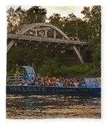 Hellgate Jet Boat And Caveman Bridge Fleece Blanket