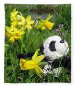 Hello Spring. Ginny From Travelling Pandas Series. Fleece Blanket