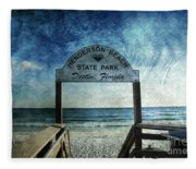 Henderson Beach State Park Florida Fleece Blanket