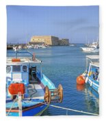 Heraklion - Venetian Fortress - Crete Fleece Blanket