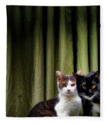 Here Kitty Kitty Fleece Blanket