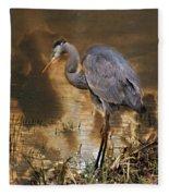 Heron Bronze Fleece Blanket