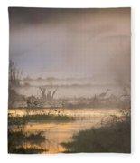 Heron Dawn Fleece Blanket