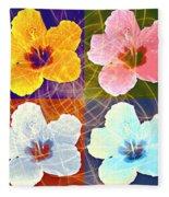 Hibiscus Blooming Fleece Blanket