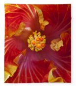 Hibiscus Center Fleece Blanket