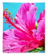 Hibiscus Crystal Luster Fleece Blanket
