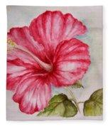 Hibiscus Flower Fleece Blanket