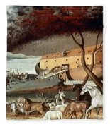 Hicks: Noahs Ark, 1846 Fleece Blanket