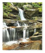 Hidden Falls At Hanging Rock Fleece Blanket