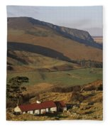 High Angle View Of A House, County Fleece Blanket