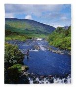 High Angle View Of A Waterfall Fleece Blanket