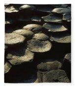 High Angle View Of Basalt Rocks, Giants Fleece Blanket