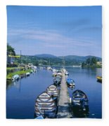 High Angle View Of Rowboats In The Fleece Blanket