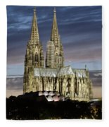 High Cathedral Of Sts. Peter And Mary In Cologne Fleece Blanket