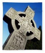 High Cross, Monasterboice, Co Louth Fleece Blanket