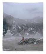 High In The Himalayas Fleece Blanket