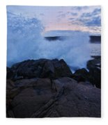 High Tide At Dusk Fleece Blanket