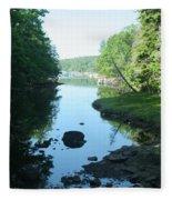 High Tide In Maine Part Of A Series Fleece Blanket