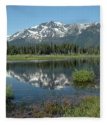High Water Mt Tallac Reflections Fleece Blanket