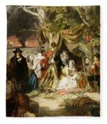 Highgate Fields During The Great Fire Of London In 1666 Fleece Blanket