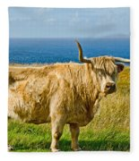 Highland Cow Fleece Blanket