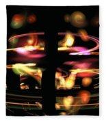Highway Lights Fleece Blanket