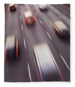 Highway Traffic In Motion Fleece Blanket