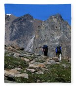 Hiking In Jasper Fleece Blanket