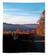 Hills In Full Bloom Fleece Blanket